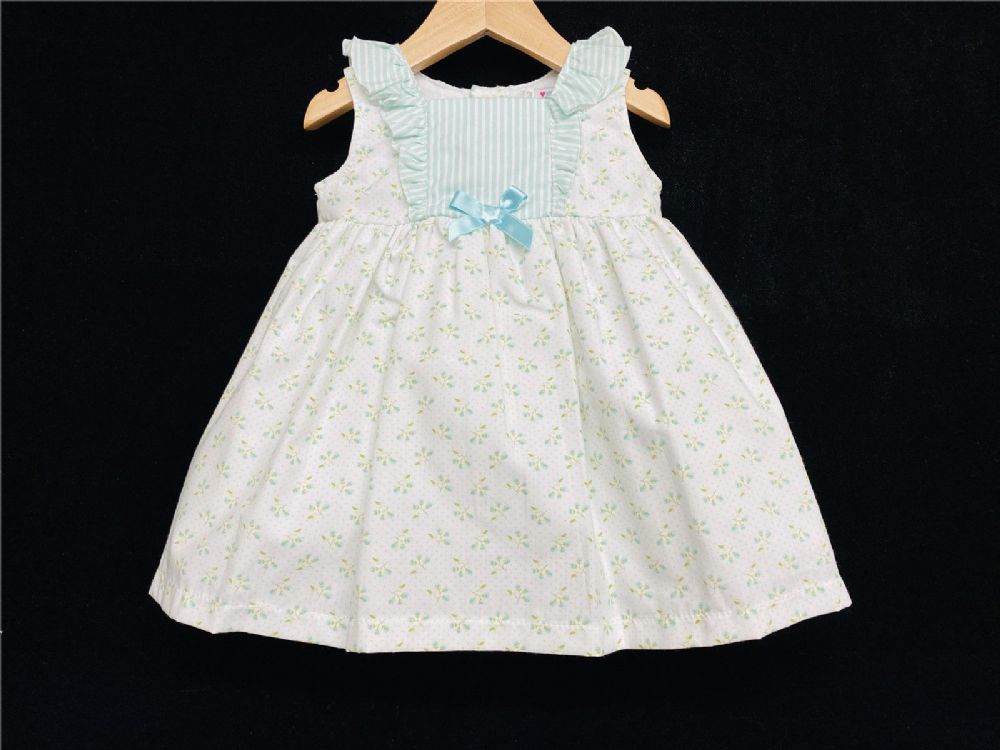 *SALE* Alber Gorgeous Baby Girl Light Mint Spanish Floral High Up Dress